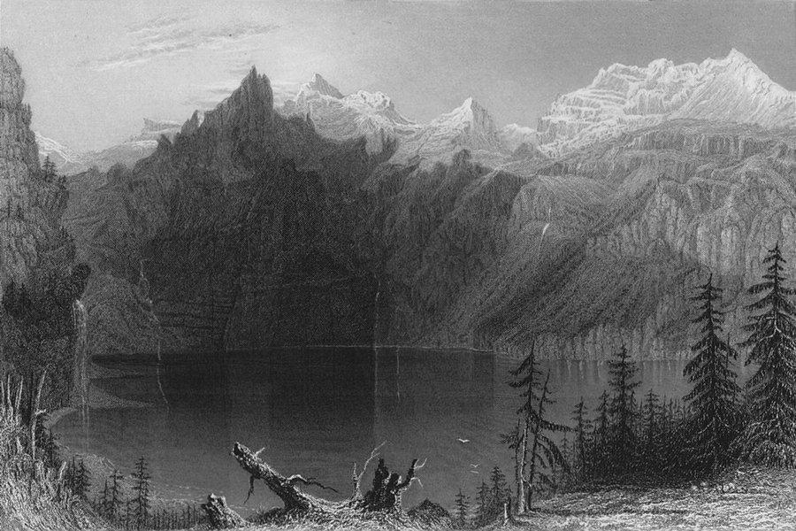 Associate Product SWITZERLAND. Lake below the Blüemlisalp Blumlisalp (Kandertal). BARTLETT 1836