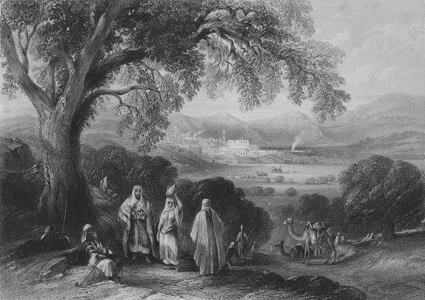 Associate Product ISRAEL. Vale of Nazareth-Bartlett 1847 old antique vintage print picture