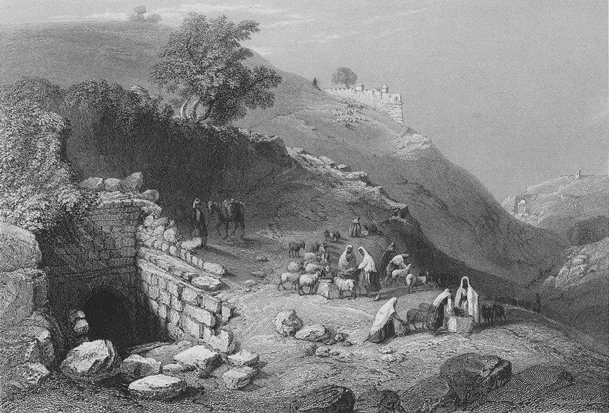 Associate Product ISRAEL. Well of Virgin, Jerusalem-Bartlett 1847 old antique print picture
