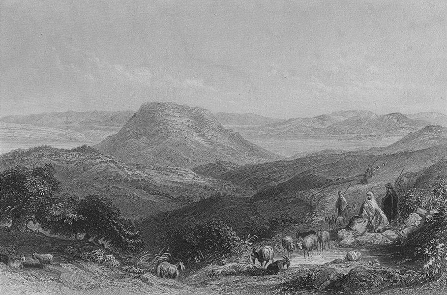 Associate Product ISRAEL. Mount Tabor, Gilboa & Jordan. Bartlett 1847 old antique print picture