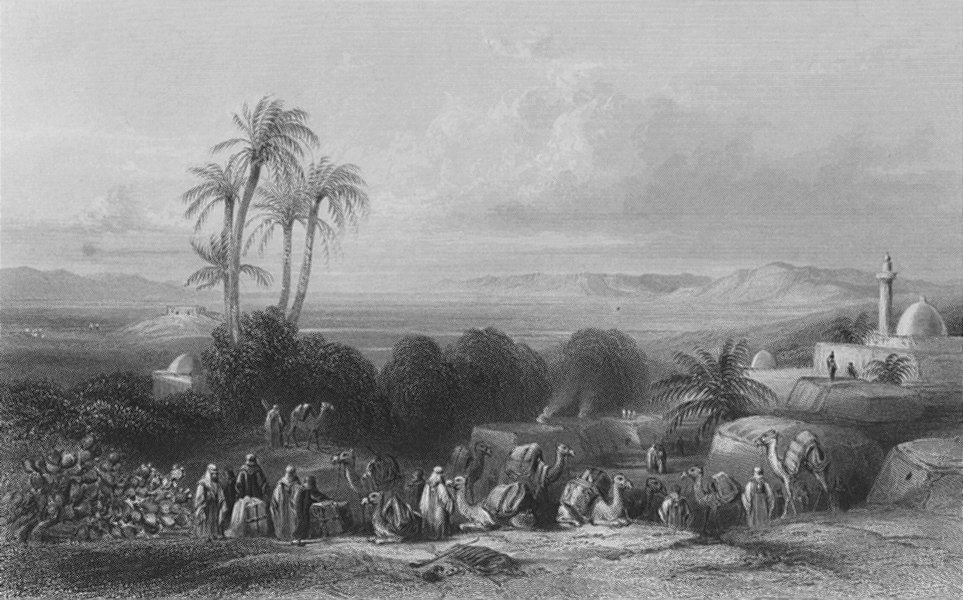 Associate Product ISRAEL. Plain of Esdraelon, from Jenin-Bartlett 1847 old antique print picture