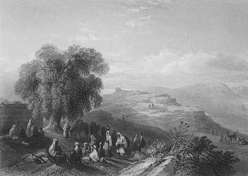 Associate Product ISRAEL. Seilun, Shiloh-Bartlett 1847 old antique vintage print picture