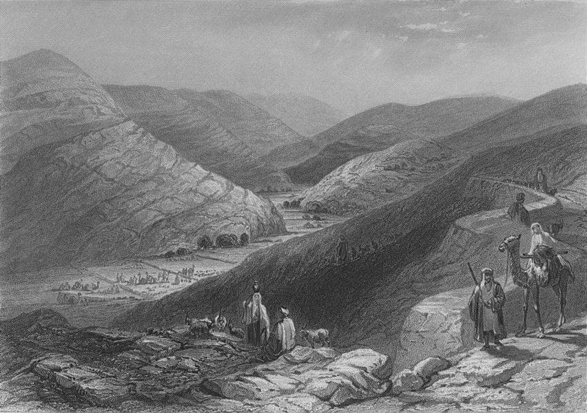 Associate Product ISRAEL. Etham, near Bethlehem-Bartlett 1847 old antique vintage print picture