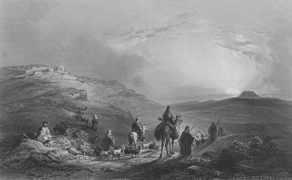 Associate Product ISRAEL. Zekoa & Herodium-Bartlett 1847 old antique vintage print picture