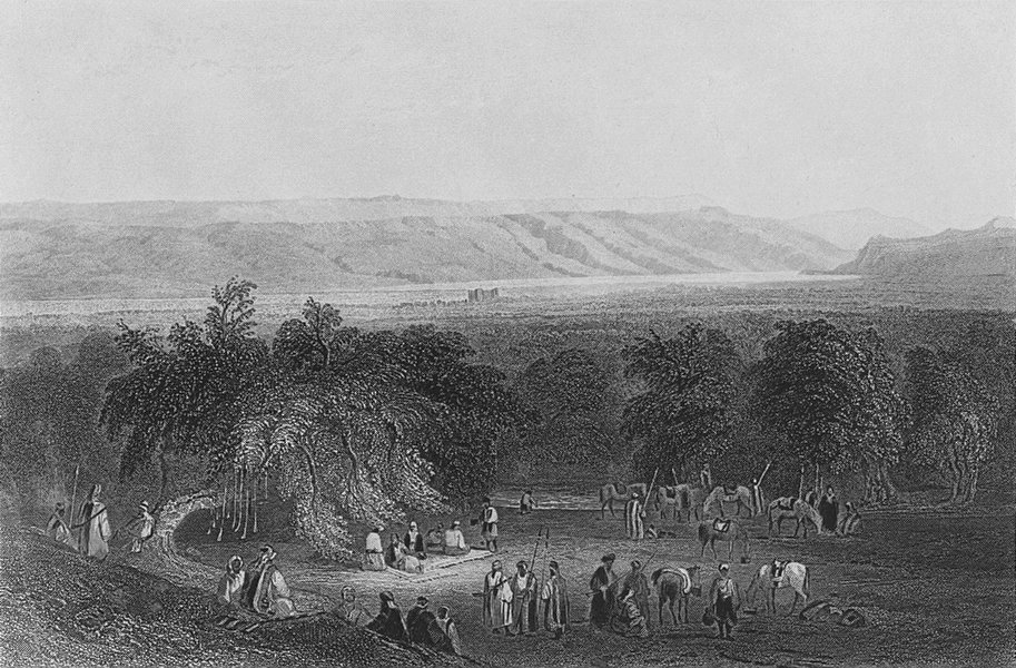 Associate Product ISRAEL. Plain of Jericho, towards Moab-Bartlett 1847 old antique print picture