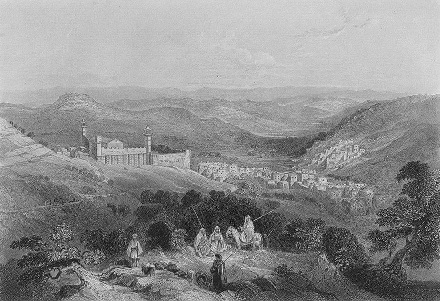 Associate Product ISRAEL. Hebron-Bartlett 1847 old antique vintage print picture