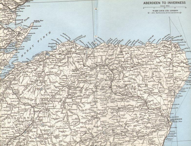 Associate Product GRAMPIAN. Aberdeen Inverness Moray Firth Elgin. North East Scotland 1975 map