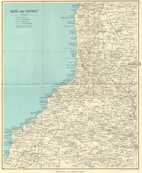 Associate Product NORTH CORNWALL. Bude Tintagel Boscastle Launceston Holsworthy 1964 old map