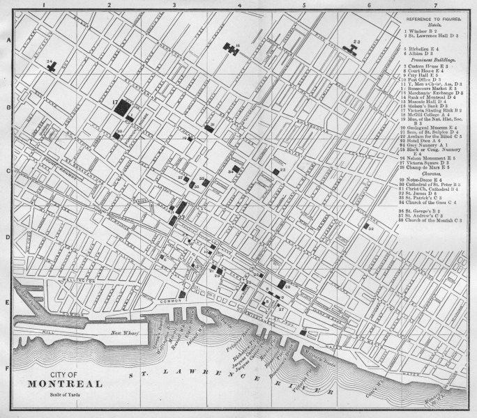 Associate Product MONTRÉAL MONTREAL, QUEBEC QUÉBEC. Antique city plan 1893 old map