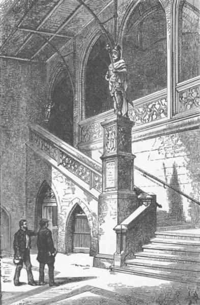 Associate Product SWITZERLAND. Statue of Munatius Plancus 1903 old antique vintage print picture