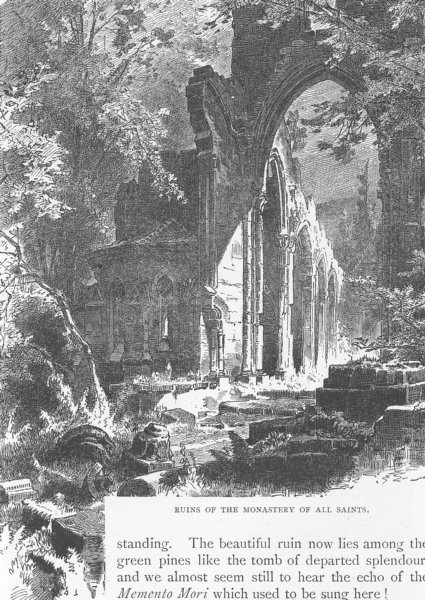 Associate Product GERMANY. Ruins of Monastery all saints 1903 old antique vintage print picture