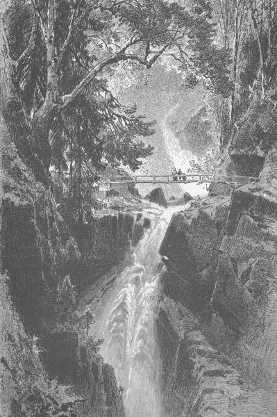 Associate Product GERMANY. Buttenstein Falls 1903 old antique vintage print picture
