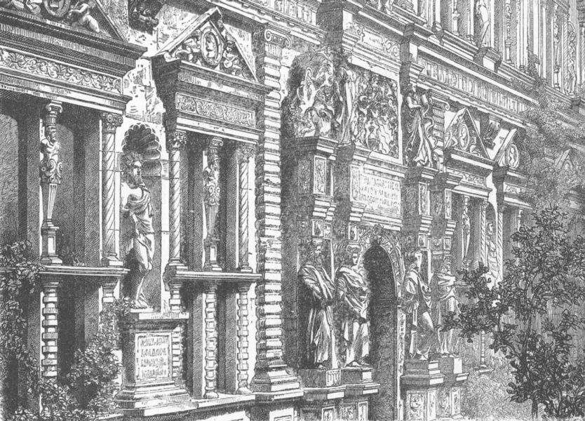 Associate Product GERMANY. Heidelberg Palace 1903 old antique vintage print picture