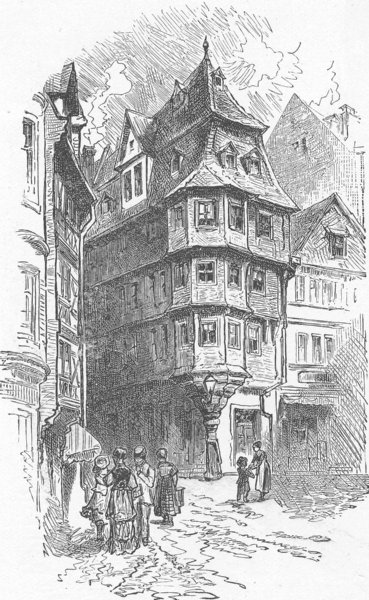 Associate Product GERMANY. Luther's House 1903 old antique vintage print picture