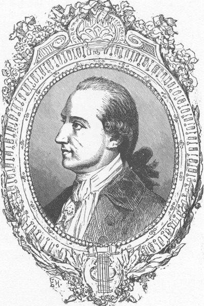 Associate Product GERMANY. Portrait of Goethe 1903 old antique vintage print picture