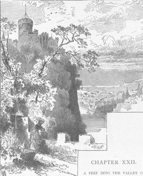 Associate Product GERMANY. The Castle of Lahneck 1903 old antique vintage print picture