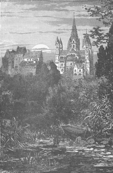 Associate Product GERMANY. Limburg Cathedral 1903 old antique vintage print picture