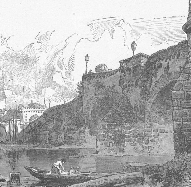 Associate Product GERMANY. Bridge, Moselle, Koblenz 1903 old antique vintage print picture