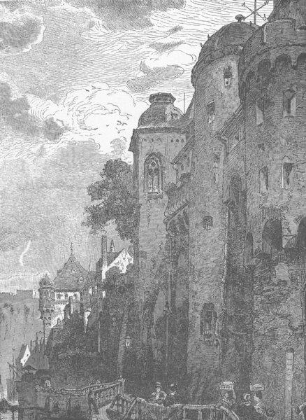 GERMANY. The Castorhof, Koblenz 1903 old antique vintage print picture