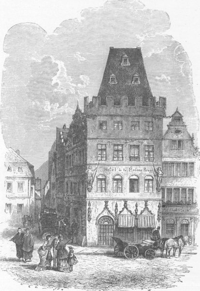 Associate Product GERMANY. The Red House, Trier 1903 old antique vintage print picture