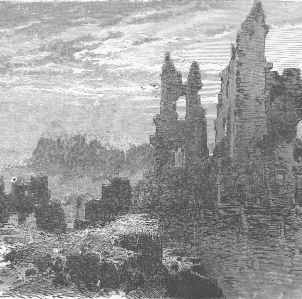 Associate Product GERMANY. Ruins of Gerolstein 1903 old antique vintage print picture