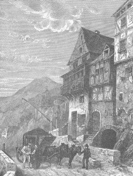 Associate Product GERMANY. Cochem 1903 old antique vintage print picture