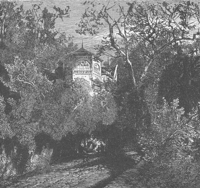 Associate Product SWITZERLAND. Castle of Rheineck 1903 old antique vintage print picture