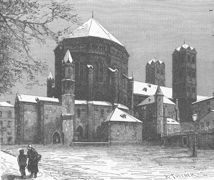 Associate Product GERMANY. Church of St Gereon, Cologne 1903 old antique vintage print picture