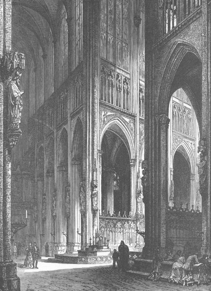 Associate Product GERMANY. Cologne Cathedral 1903 old antique vintage print picture