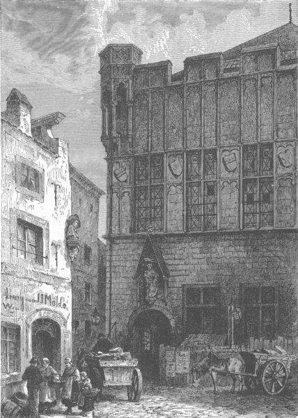 Associate Product GERMANY. The Gürzenich, Cologne 1903 old antique vintage print picture