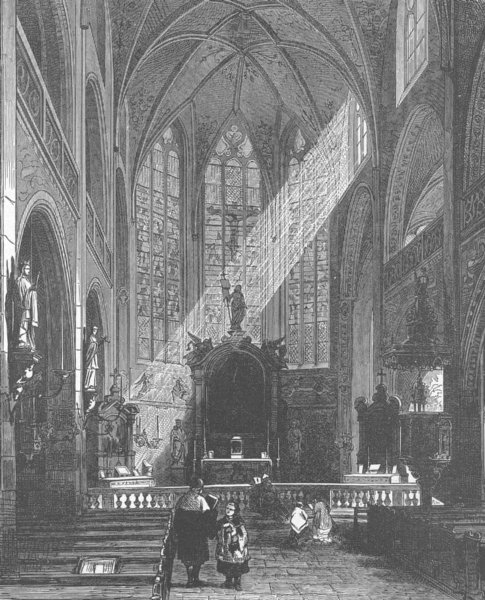 Associate Product GERMANY. St Peter's Church, Cologne 1903 old antique vintage print picture