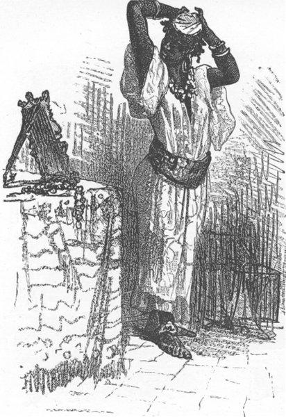 Associate Product MOROCCO. Negro servant 1882 old antique vintage print picture
