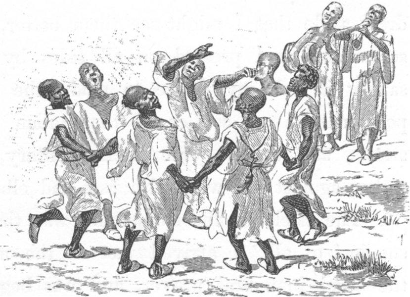 Associate Product MOROCCO. Negro dancers 1882 old antique vintage print picture