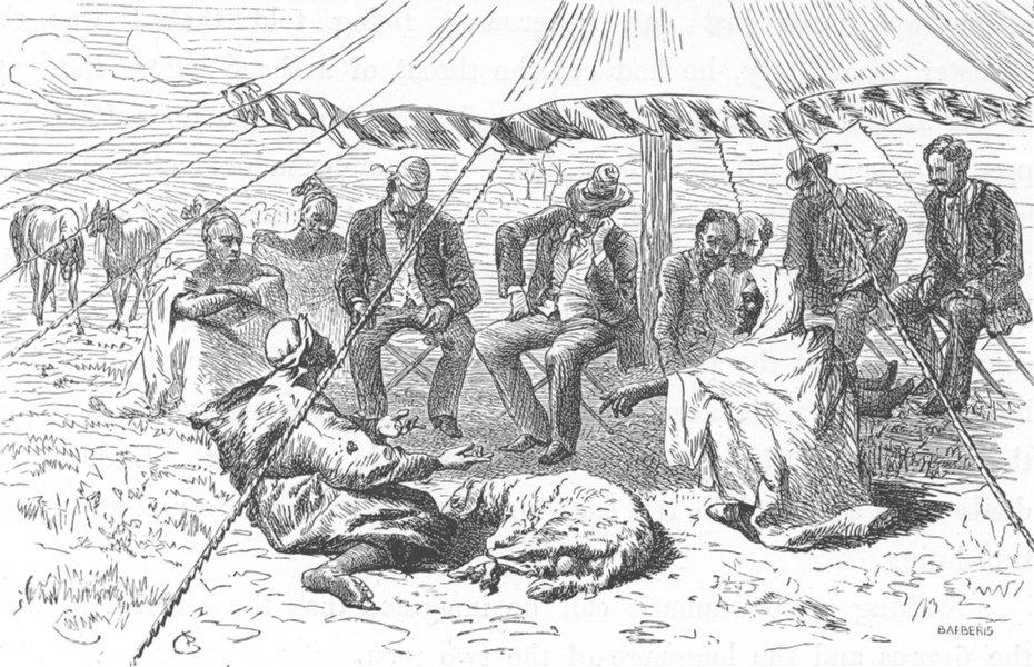 Associate Product MOROCCO. Justice, Ambassador's tent 1882 old antique vintage print picture