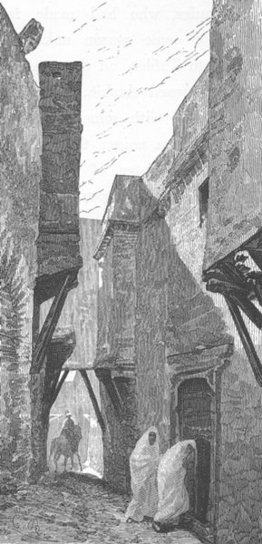 Associate Product MOROCCO. Street in Fes 1882 old antique vintage print picture