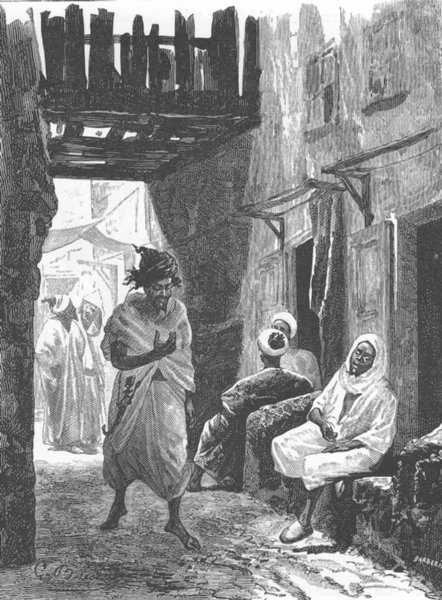 Associate Product MOROCCO. Cloth bazaar 1882 old antique vintage print picture