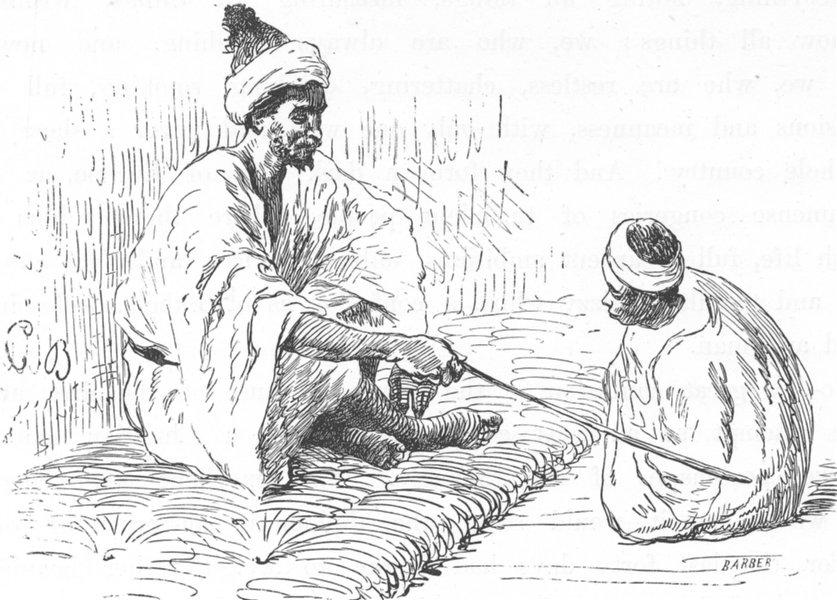 MOROCCO. Moorish schoolmaster 1882 old antique vintage print picture