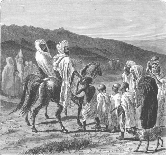 MOROCCO. Sid-Bekr-El-Abbassi & suite 1882 old antique vintage print picture