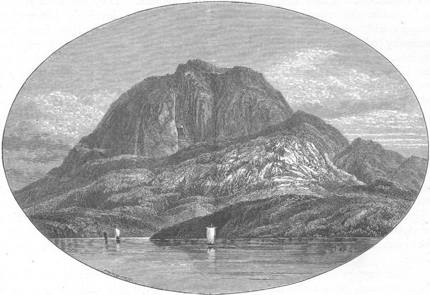 Associate Product NORWAY. Torghatten from the East 1890 old antique vintage print picture