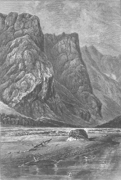 Associate Product NORWAY. The Romsdal, near Horgheim 1890 old antique vintage print picture