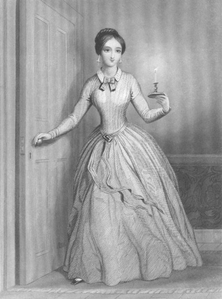 Associate Product PRETTY LADIES. Good Night c1856 old antique vintage print picture