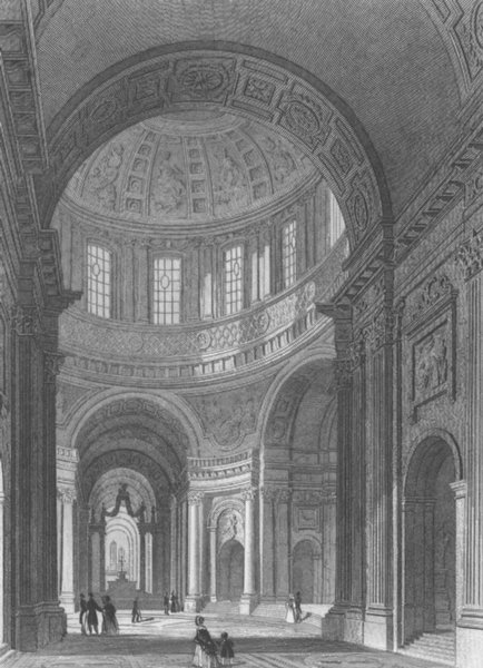 Associate Product PARIS. Domes des Invalides c1856 old antique vintage print picture