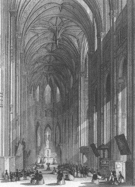 Associate Product PARIS. Eglise de St Eustache c1856 old antique vintage print picture