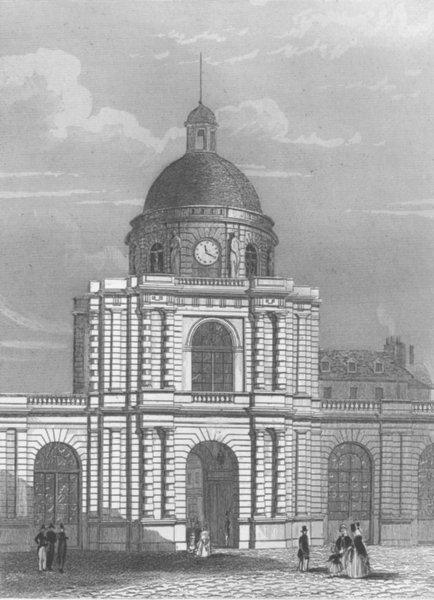 Associate Product FRANCE. Entrée du Palais Luxembourg(Paris) c1856 old antique print picture