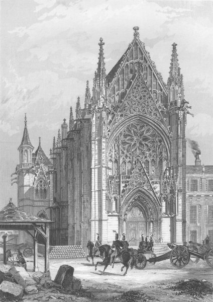 Associate Product FRANCE. The chapel of Vincennes c1856 old antique vintage print picture