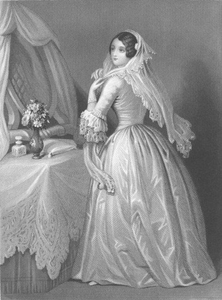 Associate Product ROMANCE. The bride c1856 old antique vintage print picture