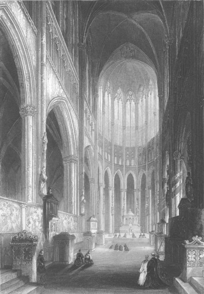 Associate Product GERMANY. Cologne Cathedral c1856 old antique vintage print picture