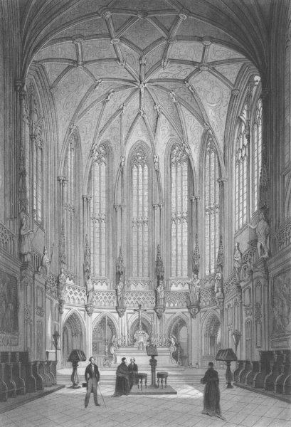 Associate Product BELGIUM. Church of St Jacques, Liège c1856 old antique vintage print picture