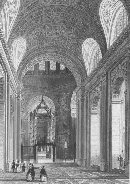 Associate Product FRANCE. Interieur de la Chapelle val Grace. Paris c1856 old antique print