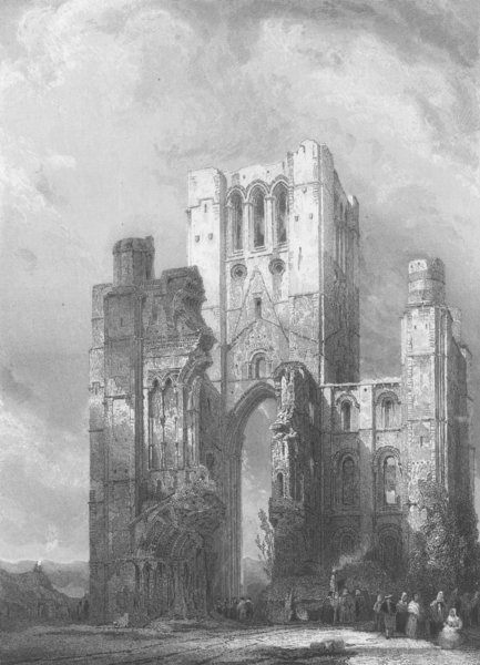 Associate Product SCOTLAND. Kelso Abbey, Roxburgshire 1836 old antique vintage print picture